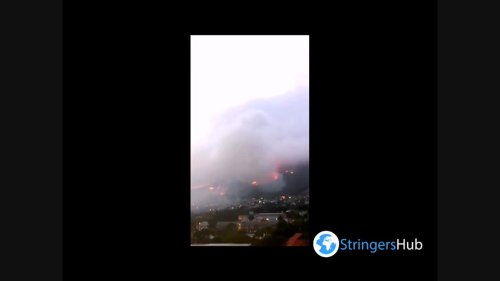 South Africa: Massive Table Mountain fire in Cape Town