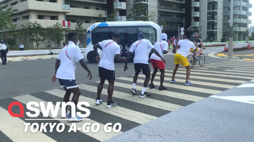 Joyous video shows the Ghanaian Olympics Track and Field team dancing on the streets of Tokyo