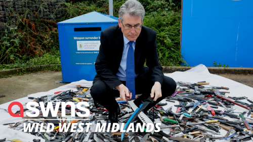 Police reveal more than 1,300 lethal weapons surrendered West Midlands, UK
