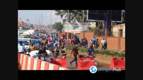 Access to the city center is restricted during lockdown in Kampala, Uganda 1