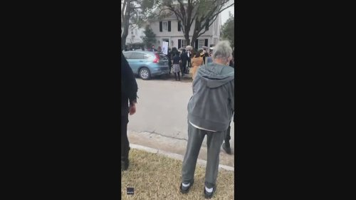 Mariachi Band Holds Protest Outside Senator Ted Cruz's Houston Home