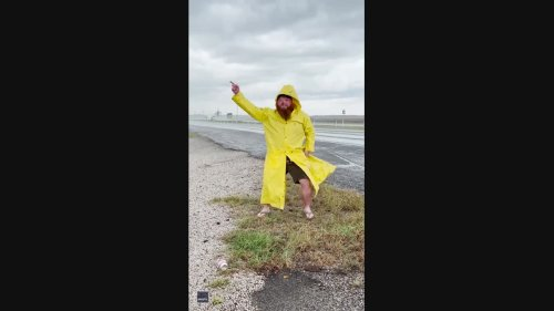 Comedian Spoofs Meteorologist Jim Cantore While 'Covering' Hurricane Nicholas