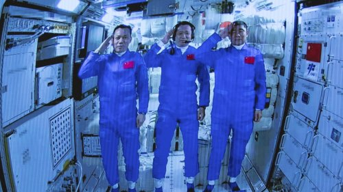 Chinese Crew Enters China's New Space Station