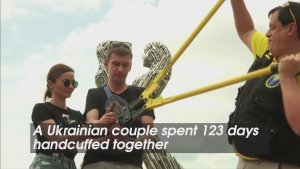 Separate Ways! Shackled Ukrainian Couple Break Handcuffs After Spending 120+ Days Together!