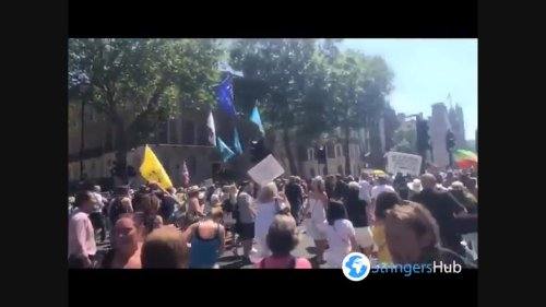 UK: Protest Against COVID Restrictions In Central London