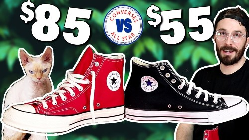Chuck 70 vs Basic Chuck Taylors - (CUT IN HALF) - Converse Chuck Taylor Sneaker Review.