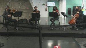 Spanish Nurses Serenaded by Orchestra at Madrid Vaccination Center