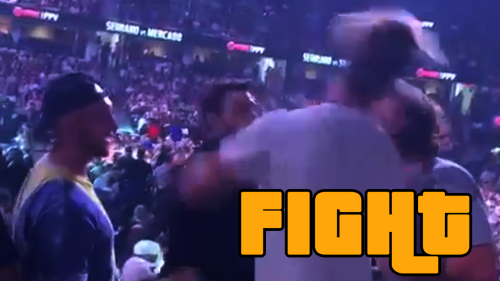 ''KO!' - Fan Gets ROCKED with a HUGE RIGHT at the Jake Paul vs. Tyron Woodley Event '