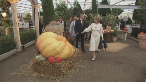 Sophie Wessex spots giant pumpkin at Chelsea Flower Show