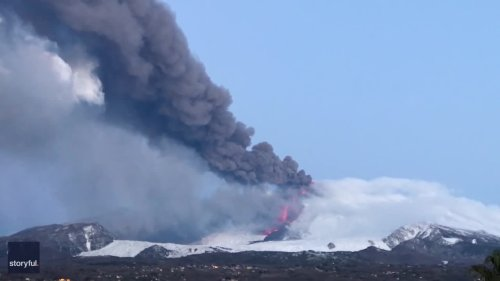 Lava and Lapilli Flow as Mount Etna Discharges for 14th Time Since February Eruption