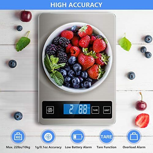 Portion food with a digital kitchen scale