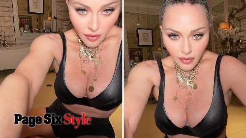 Madonna, 62, strips down to her underwear to tease 're-invention'