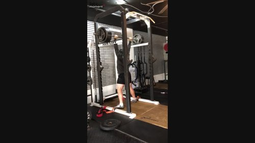 Weightlifter Knocks Down Camera After Setting Record!