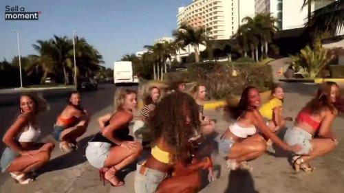 Girls dance group puts up street performance