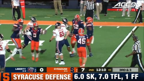 Syracuse Defense Sacks Malik Willis 6 Times
