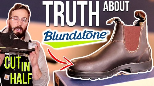 Blundstone Boots (500) Review - (CUT IN HALF) - What's inside Blundstones Chelsea Boots