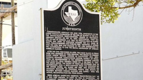 Juneteenth officially recognized as federal holiday