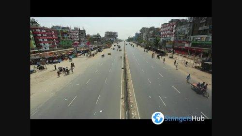 Dhaka, Bangladesh during the lockdown 2