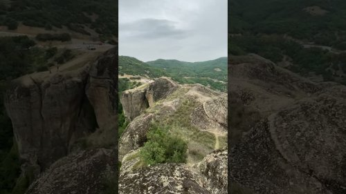 Gorgeous 360 panorama view on Meteora valley