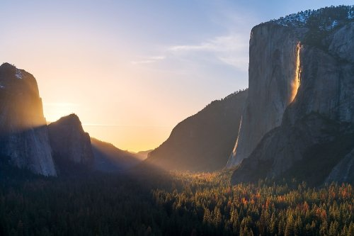 Why Horsetail Falls Glows