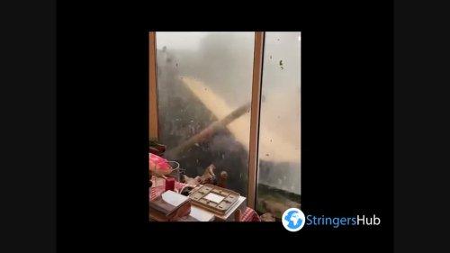 Netherlands: Violent, Tornado-Like Winds Lash Utrecht Town During Storm