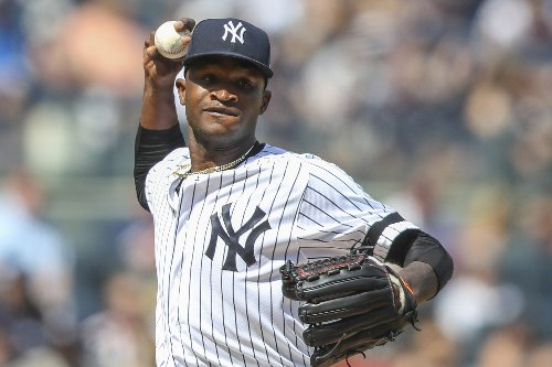 Yanks' Germán pitches 2 innings in 1st game since suspension