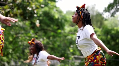 Cheers and reflection as crowds mark Juneteenth