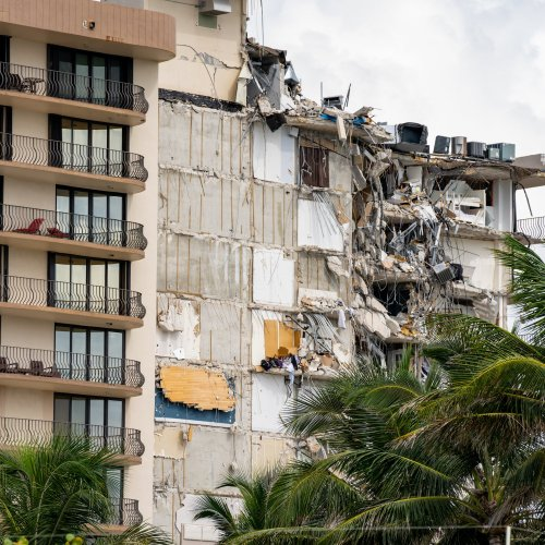 Listen: Miami Building to Be Demolished Ahead of Tropical Storm