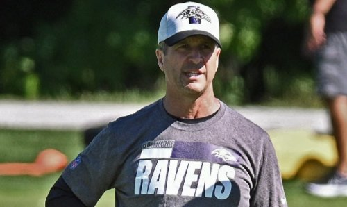Ravens' Harbaugh on offensive line battle going into training camp   VIDEO