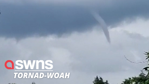 Amazing footage shows tornado-like vortexes forming over south east England