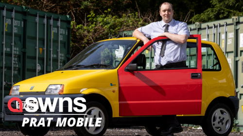 The famous 'Bus W*nkers' car from the Inbetweeners TV show is up for sale (RAW)