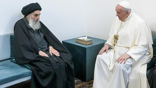 Pope Francis and influential Shia cleric in Iraq hold historic meeting