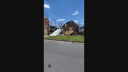 DC Freeway Closed After Pedestrian Bridge Collapse