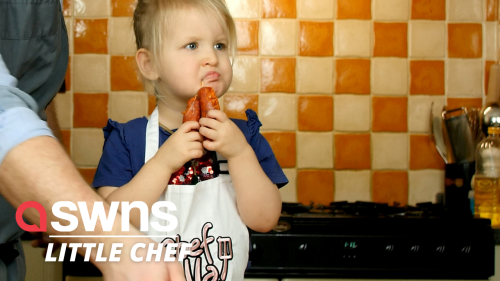 Three-year-old girl who started helping dad in kitchen now has own YouTube show