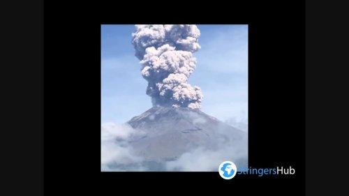 Mexico: Popocatépetl Spews Tall Column Of Ash In Recent Volcanic Activity
