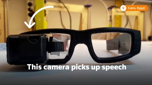 These glasses translate speech into sign language