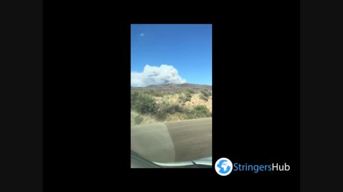 US: Telegraph Fire Captured In Time Lapse In Arizona