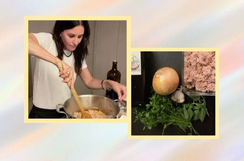 Courteney Cox Teaches Us How To Make A Healthy Chicken Bolognese