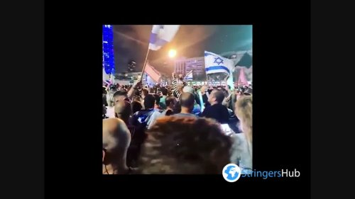 People in Tel Aviv Celebrate Formation Of New Government