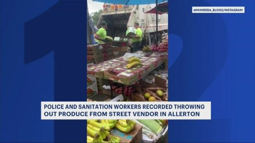 Video of sanitation workers disposing of produce in Allerton goes viral