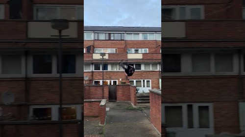 Daredevil Makes Fantastic Front Flip and Lands on Thin Wall