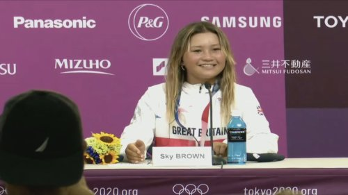 Bronze medallist Sky Brown hopes to inspire skateboarders