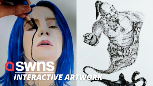 This artist creates incredible interactive art from pop culture like Aladdin and Billie Eilish (RAW)