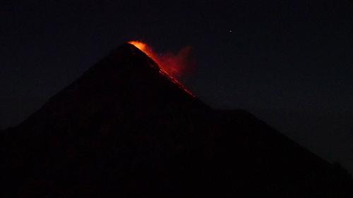 'Guatemala's Fuego Volcano's Eruption Lights Up the Sky'