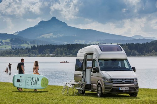 Airy Volkswagen camper boasts panoramic roof for stargazing