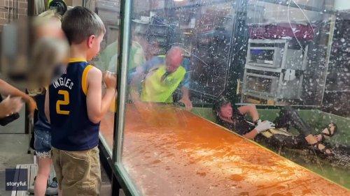 'We Got Trouble Here!' Alligator Attacks Handler in Front of Children