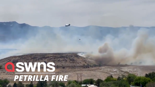 Fast-moving wildfire prompts evacuation of homes and closes highways south of Reno, Nevada (RAW)