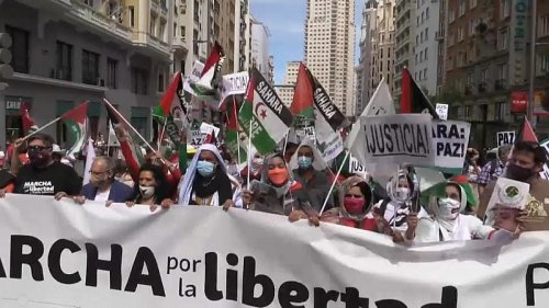 Protesters call for Western Sahara autonomy amid tension between Morocco and Spain