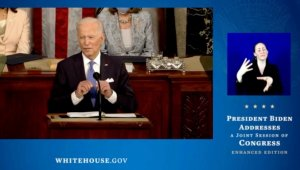 The White House Provides ASL Interpretation of Biden's Address to Congress for the First Time in History