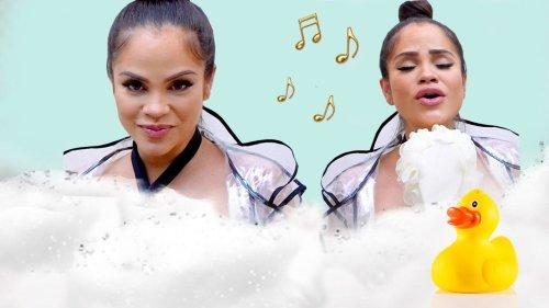 Singer Natti Natasha Sounds Incredible Live! | Singing in the Shower | Cosmopolitan